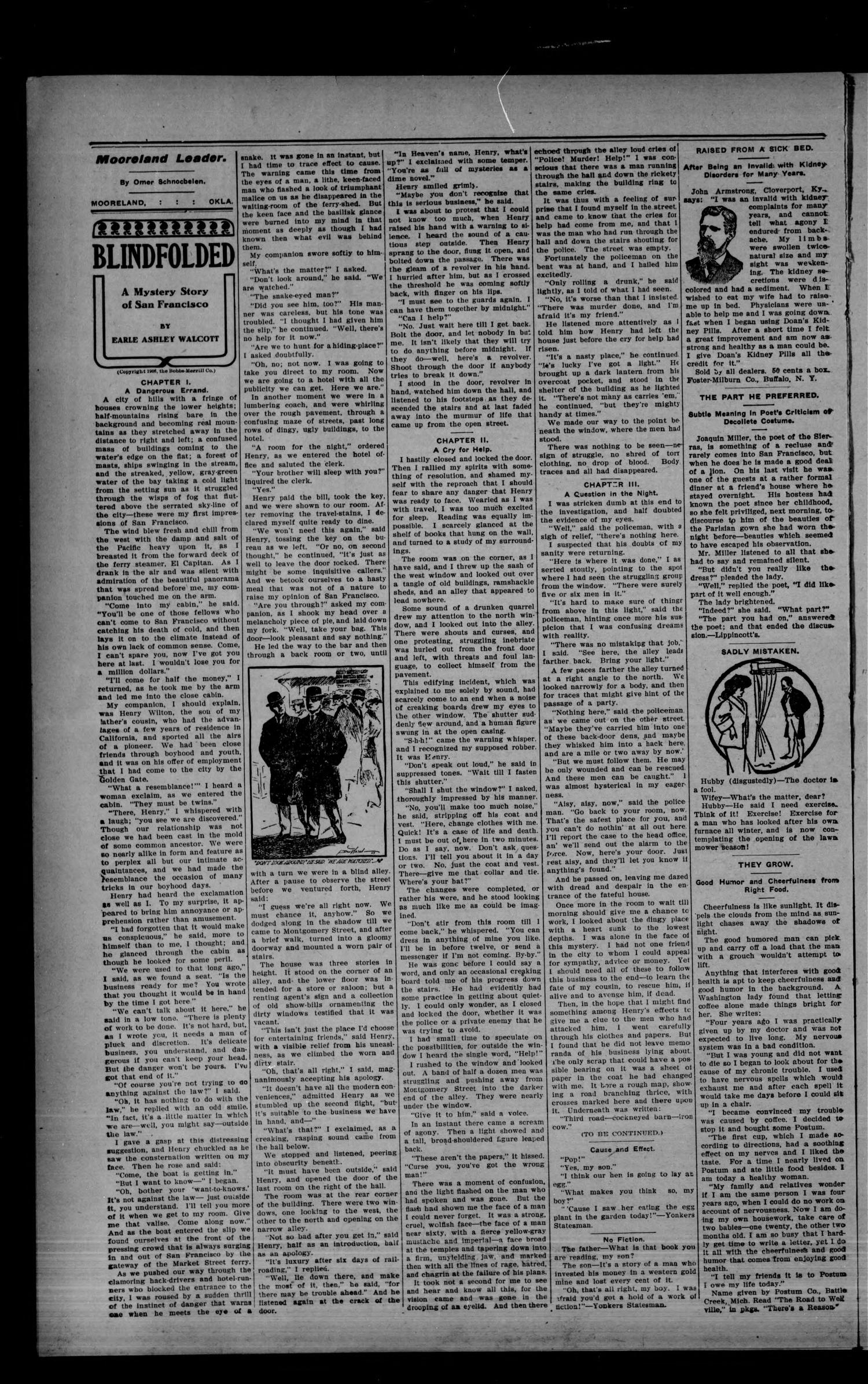 The Mooreland Leader. (Mooreland, Okla.), Vol. 6, No. 1, Ed. 1 Friday, April 10, 1908                                                                                                      [Sequence #]: 4 of 8