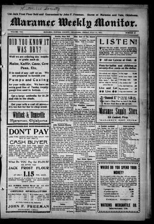Primary view of Maramec Weekly Monitor. (Maramec, Okla.), Vol. 8, No. 47, Ed. 1 Friday, July 21, 1911