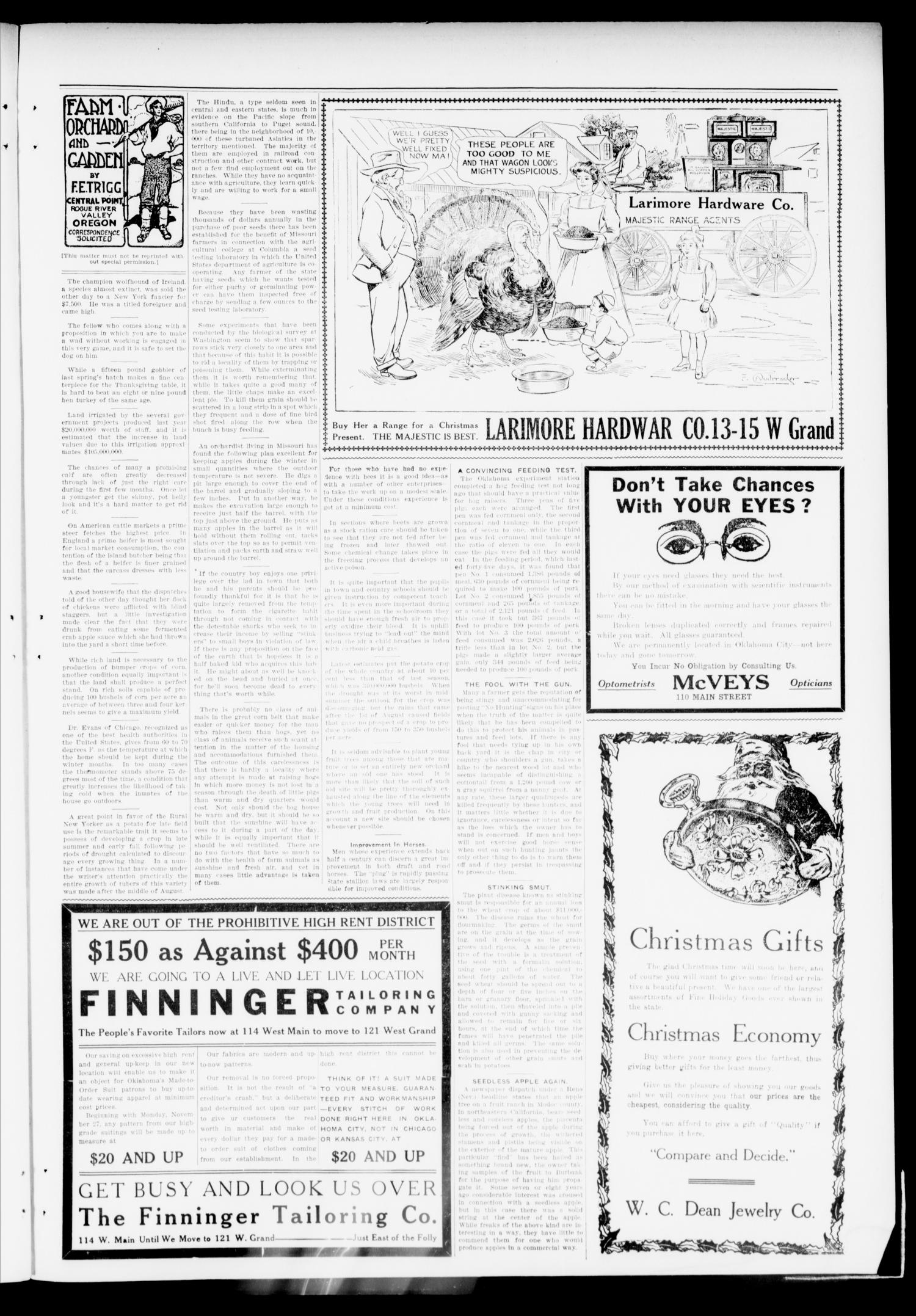 The Mustang Enterprise (Oklahoma [Mustang], Okla.), Vol. 7, No. 50, Ed. 1 Thursday, November 30, 1911                                                                                                      [Sequence #]: 3 of 8