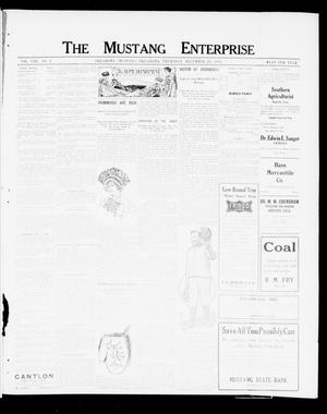 Primary view of object titled 'The Mustang Enterprise (Oklahoma [Mustang], Okla.), Vol. 8, No. 2, Ed. 1 Thursday, December 28, 1911'.