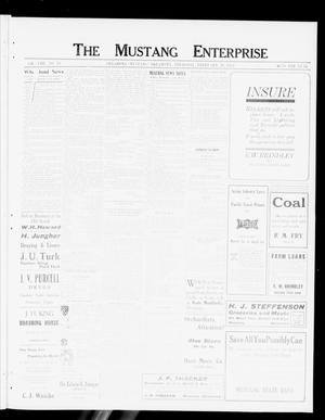 Primary view of object titled 'The Mustang Enterprise (Oklahoma [Mustang], Okla.), Vol. 8, No. 11, Ed. 1 Thursday, February 29, 1912'.