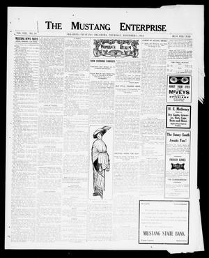 Primary view of object titled 'The Mustang Enterprise (Oklahoma [Mustang], Okla.), Vol. 8, No. 50, Ed. 1 Thursday, December 5, 1912'.