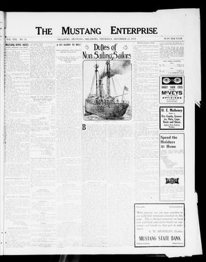Primary view of object titled 'The Mustang Enterprise (Oklahoma [Mustang], Okla.), Vol. 8, No. 51, Ed. 1 Thursday, December 12, 1912'.