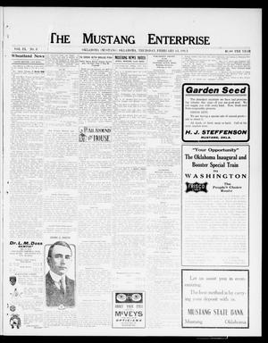 Primary view of object titled 'The Mustang Enterprise (Oklahoma [Mustang], Okla.), Vol. 9, No. 8, Ed. 1 Thursday, February 13, 1913'.