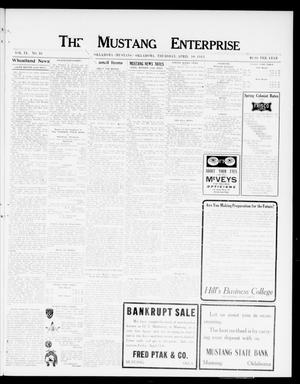 Primary view of object titled 'The Mustang Enterprise (Oklahoma [Mustang], Okla.), Vol. 9, No. 16, Ed. 1 Thursday, April 10, 1913'.