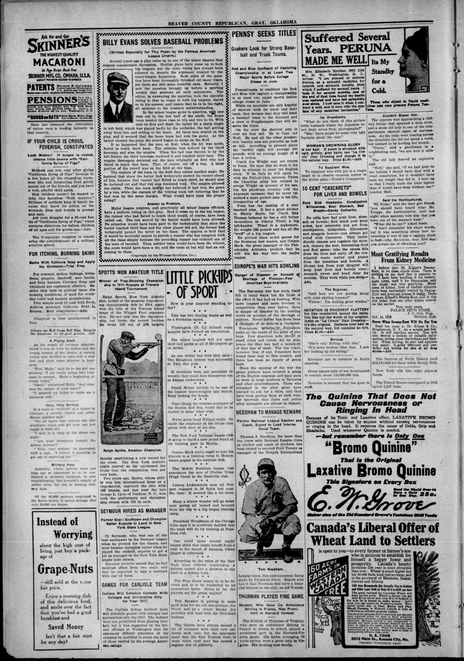 Beaver County Republican. (Gray, Okla.), Vol. 12, No. 1, Ed. 1 Friday, January 19, 1917                                                                                                      [Sequence #]: 2 of 4