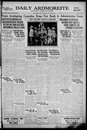 Primary view of Daily Ardmoreite (Ardmore, Okla.), Vol. 28, No. 101, Ed. 1 Tuesday, February 8, 1921