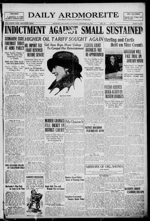 Primary view of Daily Ardmoreite (Ardmore, Okla.), Vol. 28, No. 310, Ed. 1 Thursday, December 29, 1921