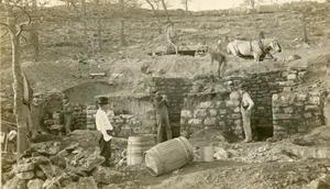 Primary view of object titled 'Lime kiln, Bromide, Oklahoma'.