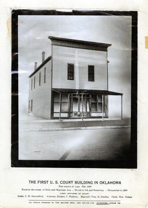Primary view of object titled 'First U.S. Court Building'.