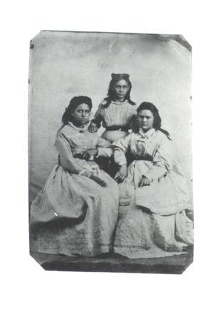 Primary view of Minnie, Sarah, and Jaqueline Watie