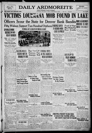 Primary view of Daily Ardmoreite (Ardmore, Okla.), Vol. 29, No. 274, Ed. 1 Friday, December 22, 1922