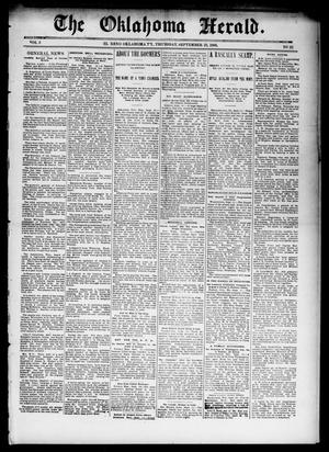 Primary view of object titled 'The Oklahoma Herald. (El Reno, Okla. Terr.), Vol. 5, No. 22, Ed. 1 Thursday, September 21, 1893'.