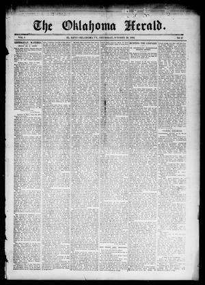 Primary view of object titled 'The Oklahoma Herald. (El Reno, Okla. Terr.), Vol. 5, No. 27, Ed. 1 Thursday, October 26, 1893'.