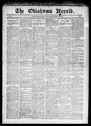 Primary view of The Oklahoma Herald. (El Reno, Okla. Terr.), Vol. 5, No. 34, Ed. 1 Thursday, December 14, 1893