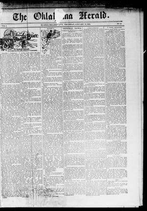 Primary view of object titled 'The Oklahoma Herald. (El Reno, Okla. Terr.), Vol. 5, No. 38, Ed. 1 Thursday, January 11, 1894'.