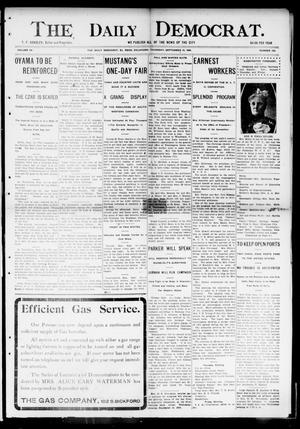 Primary view of object titled 'The Daily Democrat. (El Reno, Okla.), Vol. 4, No. 150, Ed. 1 Thursday, September 15, 1904'.