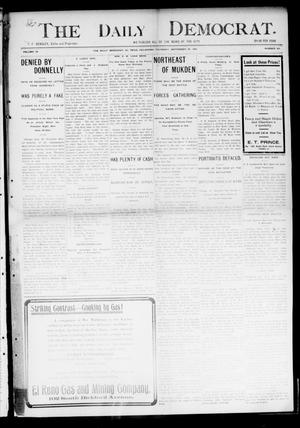 Primary view of object titled 'The Daily Democrat. (El Reno, Okla.), Vol. 4, No. 162, Ed. 1 Thursday, September 29, 1904'.