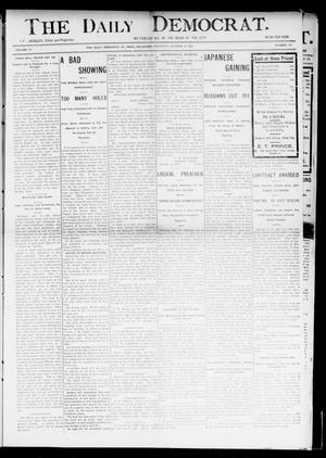 Primary view of object titled 'The Daily Democrat. (El Reno, Okla.), Vol. 4, No. 174, Ed. 1 Thursday, October 13, 1904'.