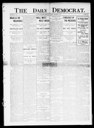 Primary view of object titled 'The Daily Democrat. (El Reno, Okla. Terr.), Vol. 4, No. 216, Ed. 1 Thursday, December 1, 1904'.