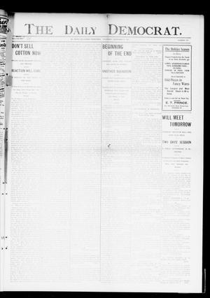 Primary view of object titled 'The Daily Democrat. (El Reno, Okla. Terr.), Vol. 4, No. 222, Ed. 1 Thursday, December 8, 1904'.