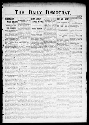 Primary view of object titled 'The Daily Democrat. (El Reno, Okla. Terr.), Vol. 5, No. 244, Ed. 1 Thursday, January 4, 1906'.