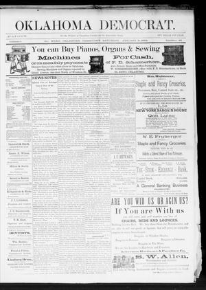 Primary view of Oklahoma Democrat. (El Reno, Okla. Terr.), Vol. 1, No. 46, Ed. 1 Saturday, January 9, 1892