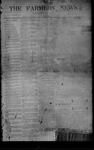 Primary view of object titled 'The Farmers' News. (Sands City [Knowles P. O.], Okla.), Vol. 1, No. 2, Ed. 1 Thursday, August 8, 1907'.