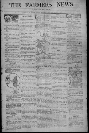 Primary view of object titled 'The Farmers' News. (Sands City [Knowles P. O.], Okla.), Vol. 1, No. 10, Ed. 1 Thursday, October 3, 1907'.