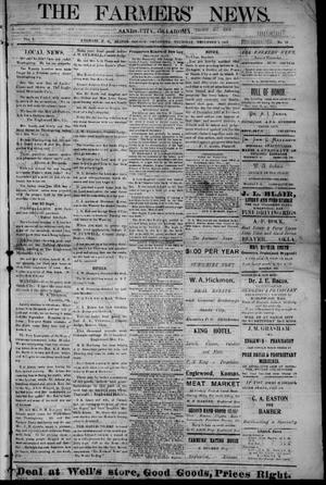 Primary view of object titled 'The Farmers' News. (Sands City [Knowles P. O.], Okla.), Vol. 1, No. 19, Ed. 1 Thursday, December 5, 1907'.
