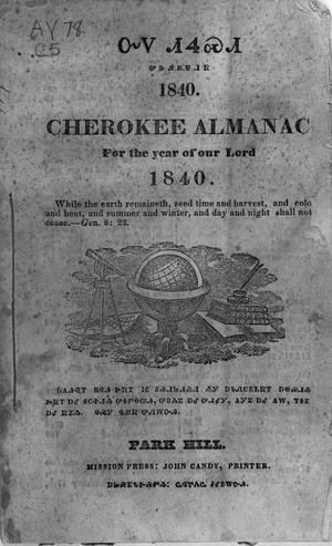 Primary view of Cherokee Almanac