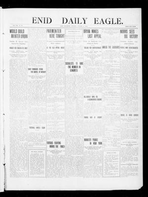 Primary view of object titled 'Enid Daily Eagle. (Enid, Okla.), Vol. 8, No. 40, Ed. 1 Saturday, October 31, 1908'.