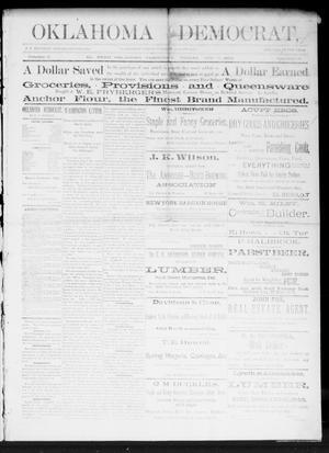 Primary view of Oklahoma Democrat. (El Reno, Okla. Terr.), Vol. 2, No. 25, Ed. 1 Friday, August 12, 1892
