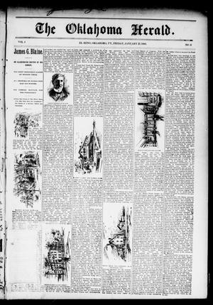 Primary view of object titled 'The Oklahoma Herald. (El Reno, Okla. Terr.), Vol. 4, No. 41, Ed. 1 Friday, January 27, 1893'.