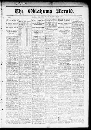 Primary view of The Oklahoma Herald. (El Reno, Okla. Terr.), Vol. 4, No. 44, Ed. 1 Friday, February 17, 1893