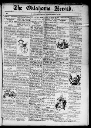 Primary view of object titled 'The Oklahoma Herald. (El Reno, Okla. Terr.), Vol. 4, No. 48, Ed. 1 Thursday, March 23, 1893'.