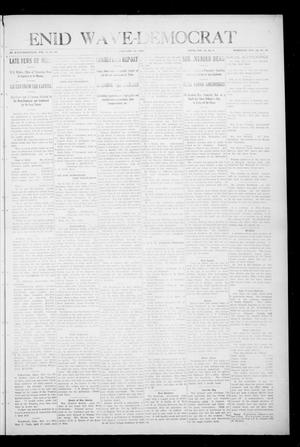 Primary view of object titled 'Enid Wave-Democrat (Enid, Okla.), Vol. 1, No. 10, Ed. 1 Saturday, February 13, 1909'.