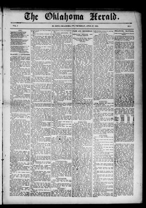 Primary view of object titled 'The Oklahoma Herald. (El Reno, Okla. Terr.), Vol. 5, No. 1, Ed. 1 Thursday, April 27, 1893'.