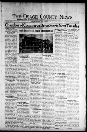 Primary view of The Osage County News (Pawhuska, Okla.), Vol. 13, No. 5, Ed. 1 Friday, September 25, 1925