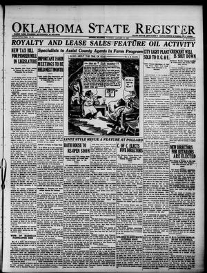 Primary view of Oklahoma State Register (Guthrie, Okla.), Vol. 35, No. 34, Ed. 1 Thursday, January 27, 1927