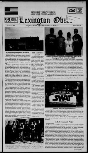 Primary view of Lexington Observer (Lexington, Okla.), Vol. 14, No. 34, Ed. 1 Thursday, November 26, 2009