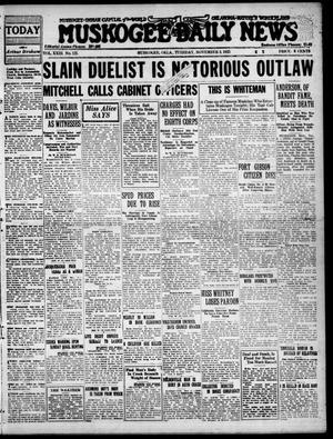 Primary view of Muskogee Daily News (Muskogee, Okla.), Vol. 23, No. 125, Ed. 1 Tuesday, November 3, 1925