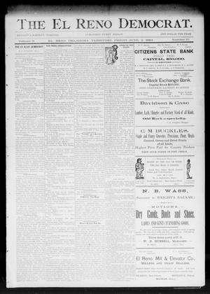 Primary view of object titled 'The El Reno Democrat. (El Reno, Okla. Terr.), Vol. 3, No. 17, Ed. 1 Friday, June 2, 1893'.