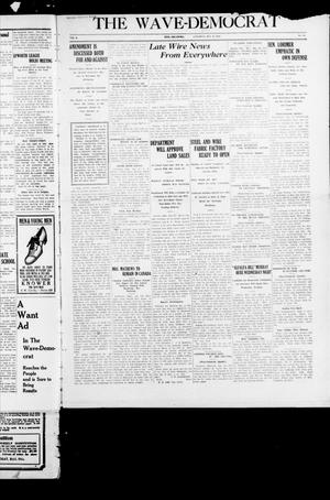 Primary view of object titled 'The Wave-Democrat (Enid, Okla), Vol. 1, No. 89, Ed. 1 Saturday, May 28, 1910'.