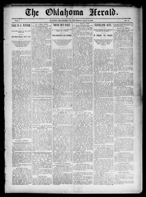 Primary view of object titled 'The Oklahoma Herald. (El Reno, Okla. Terr.), Vol. 5, No. 11, Ed. 1 Thursday, July 6, 1893'.