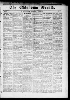 Primary view of object titled 'The Oklahoma Herald. (El Reno, Okla. Terr.), Vol. 5, No. 13, Ed. 1 Thursday, July 20, 1893'.