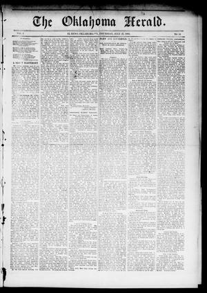 Primary view of object titled 'The Oklahoma Herald. (El Reno, Okla. Terr.), Vol. 5, No. 14, Ed. 1 Thursday, July 27, 1893'.