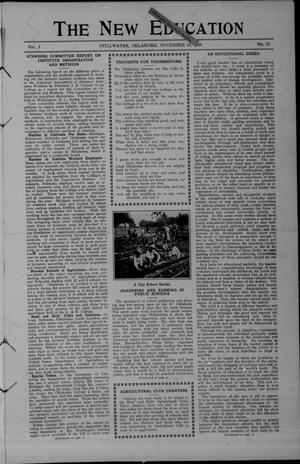 Primary view of object titled 'The New Education (Stillwater, Okla.), Vol. 1, No. 23, Ed. 1 Tuesday, November 15, 1910'.