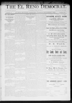 Primary view of object titled 'The El Reno Democrat. (El Reno, Okla. Terr.), Vol. 3, No. 31, Ed. 1 Thursday, September 7, 1893'.
