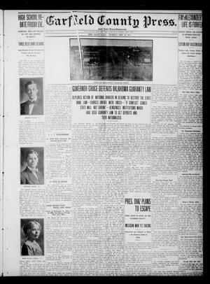 Primary view of object titled 'Garfield County Press. And Enid Wave-Democrat (Enid, Okla.), Vol. 17, No. 19, Ed. 1 Thursday, April 13, 1911'.